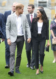 Meghan Markle Photos - Prince Harry, Duke of Sussex and Meghan, Duchess of Sussex visit Croke Park, home of Ireland's largest sporting organisation, the Gaelic Athletic Association during their visit to Ireland on July 11, 2018 in Dublin, Ireland. - The Duke And Duchess Of Sussex Visit Ireland