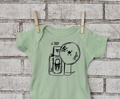 Organic Cotton Baby One piece Oh Snap Camera by CausticThreads, $20.00