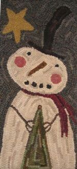 Rug Hooking - Winterberry Cabin, Hand-dyed Felted Rug Hooking Wool, Wool Applique, Penny Rug Patterns & Kits