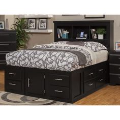 Sandberg Furniture Serenity Ultimate Twelve-drawer Storage Bed  Wish they had more than just black...