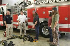 Duck Dynasty on A&E Facebook post: Remember the guys attempting to be volunteer firemen and trying to pass the tests?