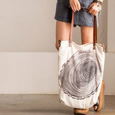 Bag - Women's Linen Shoulder Bag