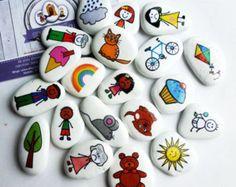 DIY Story Stone Stickers by PoppitsCupboard on Etsy