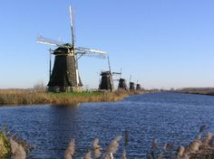 If you want to see traditional Dutch windmills while you are in the Netherlands, you can find 19 of them at Kinderdijk.  Hire a bike and cycle up and down taking in the amazing view and feel like you are really in The Netherlands!