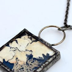 Real Moss Necklace Stained Glass Bevel Terrarium by BayouGlassArts, $35.00