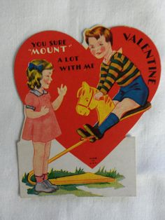 Wow, that got inappropriate quick. | 27 Weird And Creepy Vintage Valentine's Day Cards