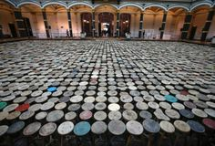 Stools, an installation by Chinese artist Ai Weiwei at the Martin-Gropius Bau in Berlin. Ai Weiwei, Martin Gropius Bau, Berlin, Royal Australian Air Force, Wei Wei, Human Rights Activists, Picture Editor, News Media, S Pic