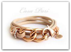 CASA Pari ®   NAPPA Leder Armband ★  ZOE  ★   von CASA Pari® auf DaWanda.com