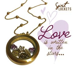 Matte Gold Spirit Locket #Love #Rose #Gold  What is your style ?? Express your uniqueness with a Spirit Locket designed by YOU !!!