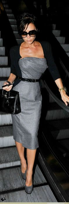 VB - gray & black, perfection. (this dress is from her Fall 2009 collection). Always in style.