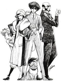 Cowboy Bebop Illustrations - The Wind - Toshihiro Kawamoto Color Dive Edit Manga Anime, Old Anime, Manga Art, Anime Art, Faye Valentine, Serial Experiments Lain, Cowboy Bebop Wallpapers, Cowboy Bebop Anime, Painting Art
