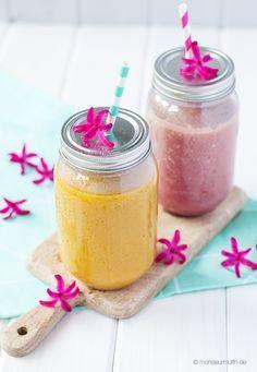 Eistee kann jeder – jetzt kommt Smoothie mit Tee! Mango-Kiwi und Granatapfel!