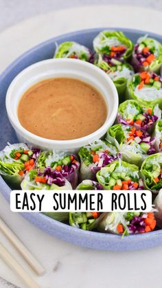 Raw Vegan Recipes, Vegan Dinner Recipes, Entree Recipes, Vegan Snacks, Asian Recipes, Healthy Snacks, Healthy Recipes, Summer Rolls, Healthy Food Options