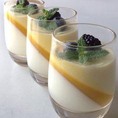 Vanilla Panna Cotta Mango Mousse