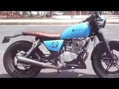 Suzuki Gn 125 scrambler o bratstyle - YouTube