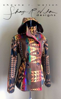 Shayne R Watson Designs Brown Pendleton Jacket
