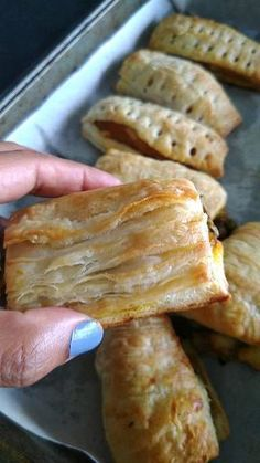 Vegetable Puffs, an Indian style savory puffy pastry with mixed vegetables stuffing inside. #vegpuffs #indiansnacks Indian Snacks, Indian Food Recipes, Sweets Recipes, Desserts, Chaat Recipe, Fusion Food, Stuffing Recipes, Mixed Vegetables, Good Healthy Recipes