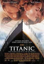 Titanic:  Because I'm a girl who is a hopeless romantic, which makes this movie a requirement.  And yes, I unashamedly saw it 11 times in the movie theater when it first came out.  And no, I did not go back to the movie theater to see it play in 3-D.  (And anyone who says Kate Winslet was fat in this movie is not my friend.)