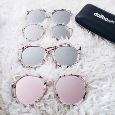 https://www.dollboxx.com.au Which is your fav? These are a few of our fav pics from our new eyewear collection! We are loving marble frames right now! All of these styles are in stock  so dont miss out on your fav! More cute styles on the website #dollboxx