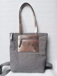 Lindy bag natúr-ezüst bőrrel Bagan, Shopping Bag, Tote Bag, Leather, Fashion, Moda, La Mode, Carry Bag, Tote Bags