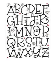 Happy almost Friday! Here's my serif alphabet for and Hand Lettering Alphabet, Doodle Lettering, Creative Lettering, Lettering Styles, Calligraphy Letters, Brush Lettering, Cool Fonts Alphabet, Doodle Fonts, Handlettering Abc
