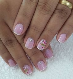 Super Ideas For Fails Design Spring Glitter Glitter French Manicure, Glitter Nails, Fun Nails, Spring Nails, Summer Nails, Short Nail Designs, Classy Nails, Beautiful Nail Art, Creative Nails