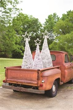 Setting an organic winter scene has just gotten easier. Whether left alone or adorned with lights and decor, these three giant trees will make an impressive impact. Place in your home or in a protected outdoor area for a warm welcome. Wouldn't they be grand with small white lights and feathered cardinals?