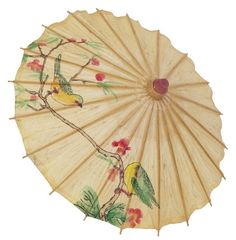 Paper parasols come in a variety of colors and designs, adding femininity to any room decor. If you want to display an open paper parasol in the room, hang it out from the wall...