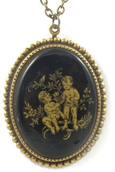 Vintage Gemini Cameo Necklace by TashaHussey on Etsy, $42.00
