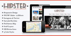 Hipster: Retro Responsive HTML5 Template - ThemeForest Item for Sale