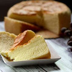 The sponge cake that is moist, light, fluffy and very cottony soft, tastes like light cheesecake.
