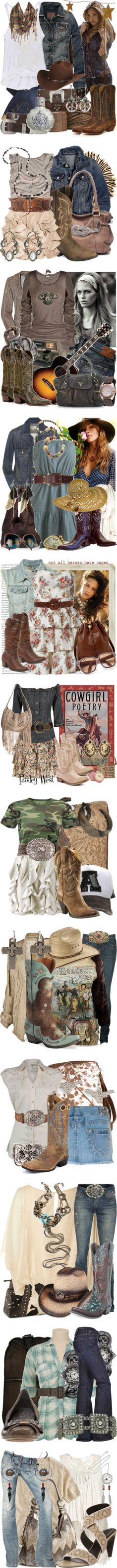 Cowgirl chic...I need every piece of this clothing in my closet NOW!!!