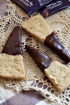 EARL-GREY CHOCOLATE SHORTBREAD | Shortbread is a good way to experiment with flavors that you like. You can add just about any kind of flavor enhancer that you like to a shortbread recipe to make it your own. In this recipe, Earl Grey tea is the chosen flavor, with its slight earthiness and bergamot scent. Because shortbread is sweet, it balances well with the flavor, and the bittersweet chocolate is a nice touch. CLICK FOR RECIPE