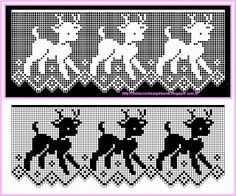If you looking for a great border for either your crochet or knitting project, check this interesting pattern out. When you see the tutorial you will see that you will use both the knitting needle and crochet hook to work on the the wavy border. Filet Crochet Charts, Crochet Borders, Crochet Cross, Knitting Charts, Thread Crochet, Crochet Stitches, Stitch Patterns, Crochet Curtains, Embroidery Designs