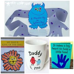 25 adorable handprint gift ideas for Father's Day- my husband would love these!