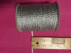 Vintage Silver Metallic Cord- 72 yards. Made in Japan.Breaded Cords. by AnafrezNotions on Etsy