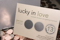 Scratch off wedding save the date modern- these are awesome and I kinda love the idea but with our colors!!!????