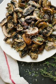 Baked Lemon and Thyme Mushrooms by simpleprovisions-take out parmesan #Mushrooms #Lemon #Thyme