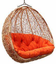 Estella - Dual Sitting Outdoor Wicker Swing Chair/Porch Hanging Chair - DL024TW