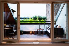 VELUX roof terrace Let your window become your door to the outside. VELUX roof tVELUX roof terrace Let your window become your door to the outside. Roof Balcony, Pergola With Roof, Patio Roof, Pergola Kits, Pergola Ideas, Cheap Pergola, Attic Renovation, Attic Remodel, Loft Conversion Roof