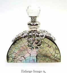 Jeweled & Enameled Silver & MOP Perfume Bottle