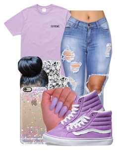 """"" by honey-cocaine1972 ❤ liked on Polyvore featuring Blue Nile, Casetify and Vans"