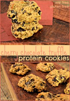 Cherry Chocolate Truffle Protein Cookies | Gluten Free Desserts | Soy Free | Fit Body Bakery | Healthy Dessert Recipes