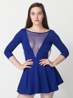 American Apparel - Ponte Gloria V Skater Dress #PinATripWithAA #AmericanApparel