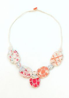 Necklace from old quilts