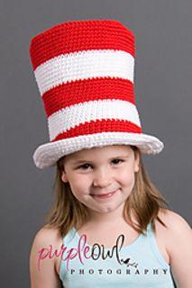 """$5.95 pattern - Ravelry: 002 - """"Cat in the Hat"""" Hat pattern by Desert Diamond Crochet - https://www.ravelry.com/patterns/library/002---cat-in-the-hat-hat"""