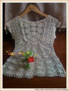 Blusa crochet delicado con jabot. Debate sobre LiveInternet - Servicio rusos Diarios Online