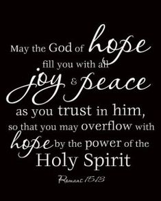 God of hope bible verse-Let your dreams bring you joy