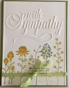 This card base used a Darice Embossing folder which I found