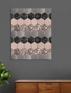 This numbered edition Canvas Print, designed by Anita's Glitter Wall Art, Glitter Canvas, Diy Canvas Art, Canvas Wall Art, Canvas Decor Diy, Canvas Painting Designs, Diy Wall Decor, Room Decor, Geometric Decor